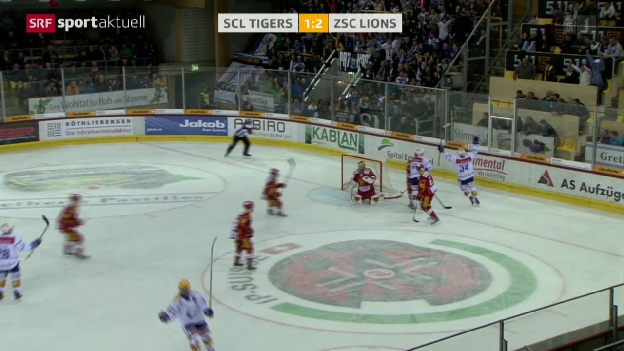Eishockey: NLA, SCL Tigers - ZSC Lions