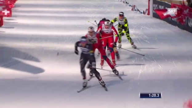 Video «Langlauf: Halbfinal Frauen mit Laurien van der Graaff («sportlive»)» abspielen