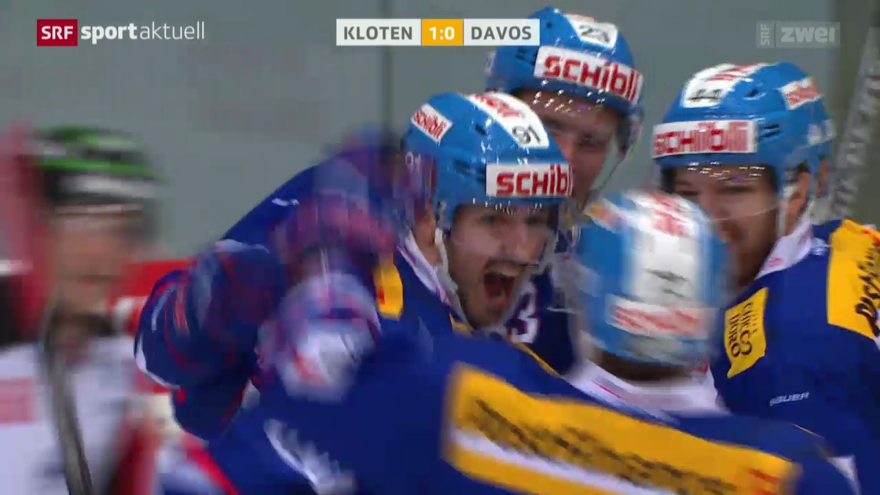 Eishockey: NLA, Kloten Flyers - Davos