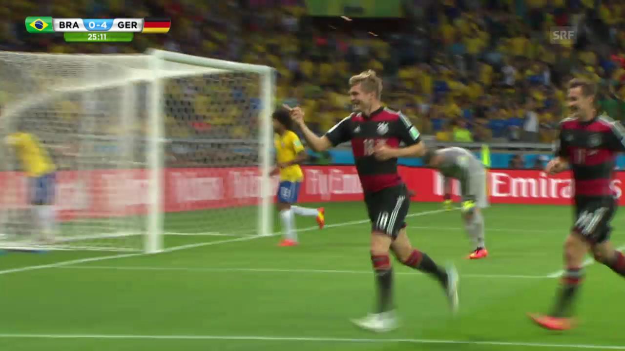 Fussball: Die Tore von Toni Kroos an der WM gegen Brasilien