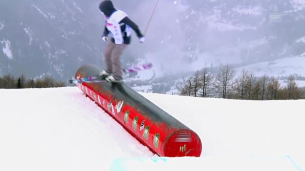 Video «Sotschi: Erklärung Ski Slopestyle» abspielen