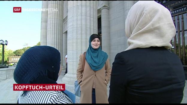 Video «Kopftuchverbot unter Umständen zulässig» abspielen
