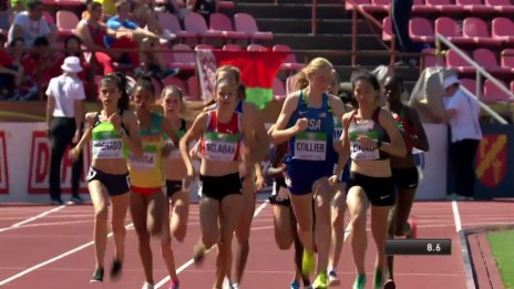 Link öffnet eine Lightbox. Video 1500-m-Lauf mit Delia Sclabas abspielen