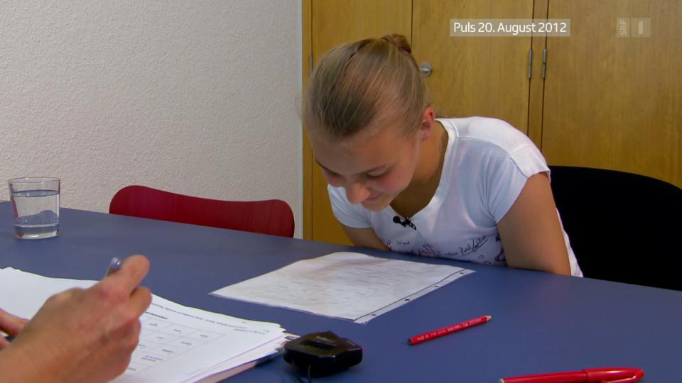 In neuropsychologischen Tests werden Lernstörungen abgeklärt