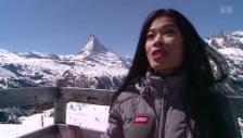 Video «Olympia vergeigt: Vanessa Mae zurück in Zermatt» abspielen