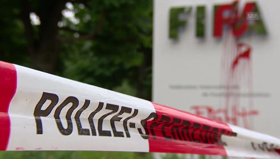 Farbanschlag auf die FIFA (unkommentiert)
