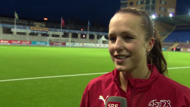 Video «Fussball: Interview mit Lia Wälti» abspielen