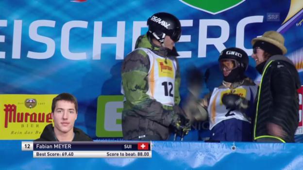 Video «Freeski: Halfpipe, 3. Final-Lauf Fabian Meyer» abspielen