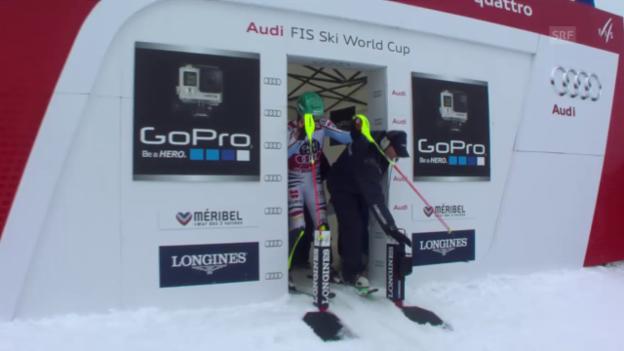 Video «Ski: Männer-Slalom in Méribel, 2. Lauf Felix Neureuther» abspielen