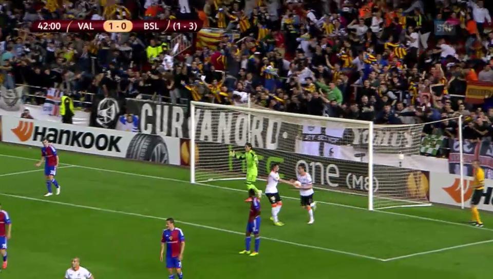 Vargas EL-Treffer gegen Basel