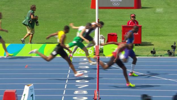 Video «Der Amerikaner Clement holt Gold über 400m Hürden» abspielen