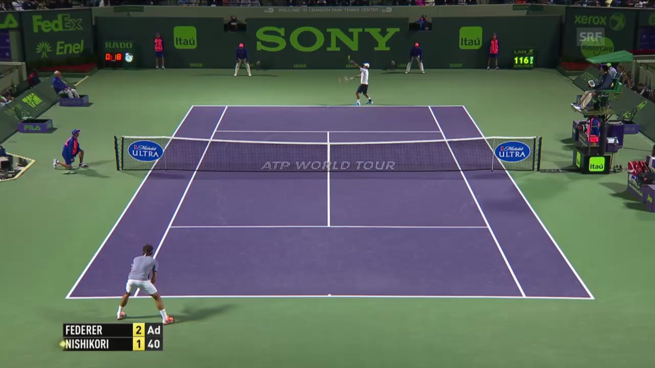 Federer - Nishikori: Entscheidende Ballwechsel