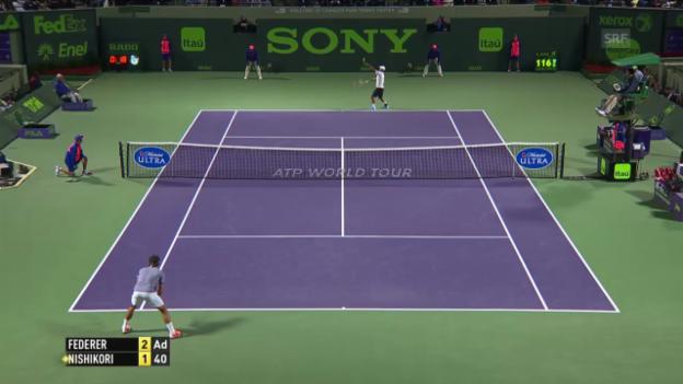 Video «Federer - Nishikori: Entscheidende Ballwechsel» abspielen