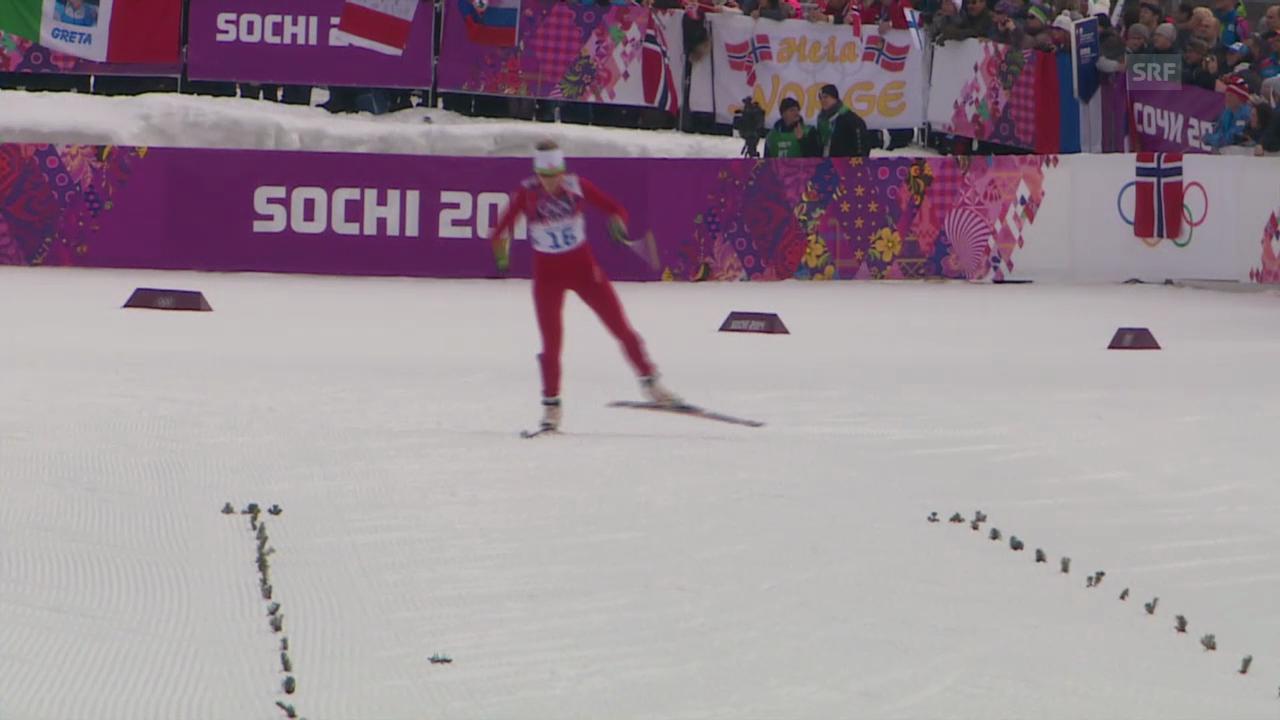 Sotschi: Langlauf, Sprints, Qualifikation mit Van der Graaff