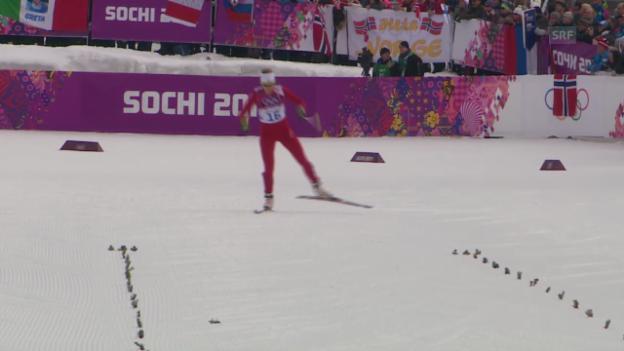 Video «Sotschi: Langlauf, Sprints, Qualifikation mit Van der Graaff» abspielen