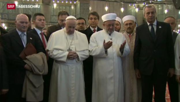 Video «Treffen der Konfessionen: Papst besucht Moschee in Istanbul» abspielen