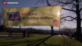 Video «Zweite Gotthardröhre vors Volk» abspielen