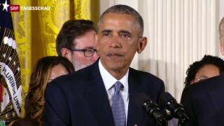 Video «Obama gegen Waffengewalt» abspielen
