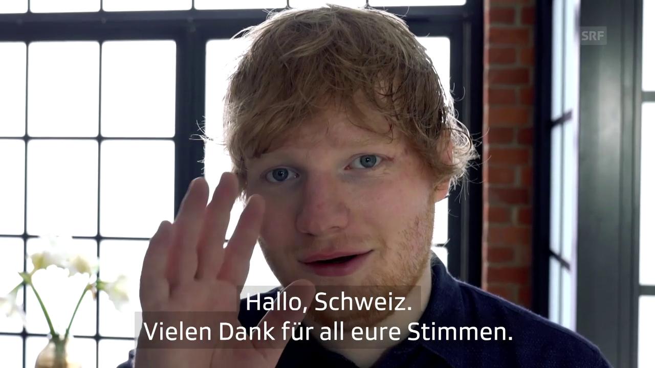 Ed Sheeran bedankt sich für seine Swiss Music Awards