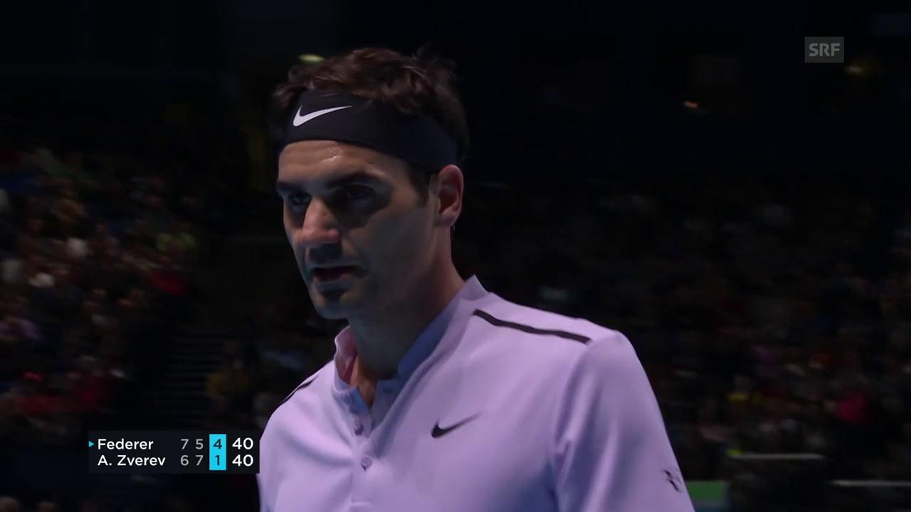 Die spektakulärsten Ballwechsel bei Federer - Zverev