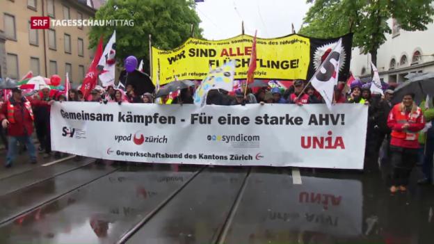 Video «Kämpferische Parolen am 1. Mai» abspielen