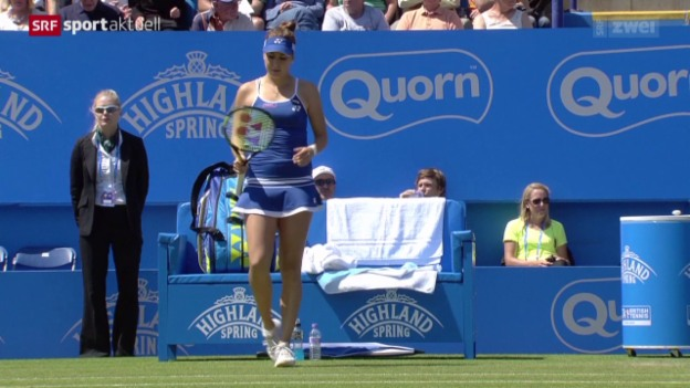 Video «Tennis: WTA Eastbourne, Bencic - Bouchard» abspielen