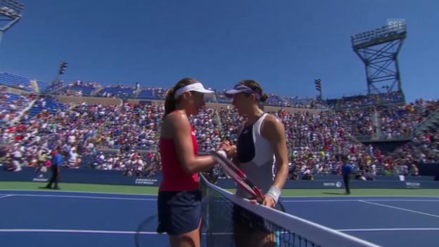 Video «Tennis: US Open 2015, 3. Runde, Konta - Petkovic» abspielen