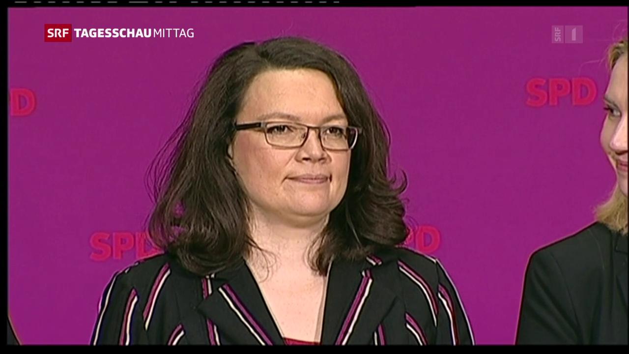 Nahles soll SPD-Chefin werden