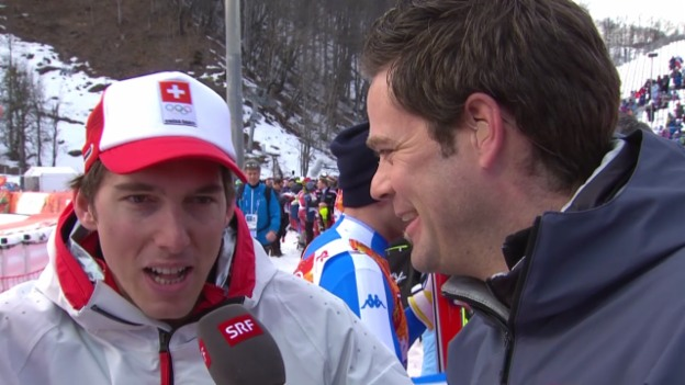 Video «Ski, Kombinations-Slalom, Interview Carlo Janka (sotschi direkt, 14.02.14)» abspielen