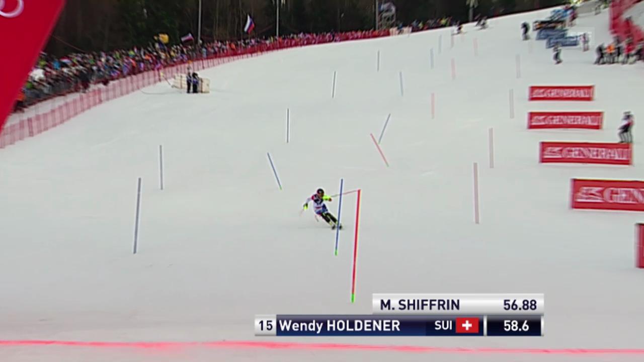 Ski: Weltcup, Slalom Frauen Zagreb, 1. Lauf Holdener