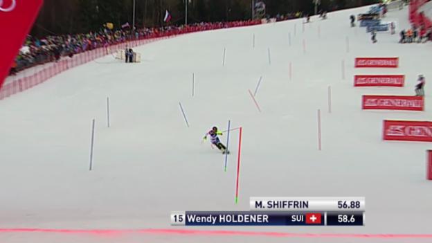 Video «Ski: Weltcup, Slalom Frauen Zagreb, 1. Lauf Holdener» abspielen