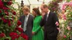 Video «Die Royals an der wichtigsten Gartenausstellung der Welt» abspielen
