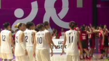 Video «Historische Premiere für koreanisches Basketball-Team» abspielen