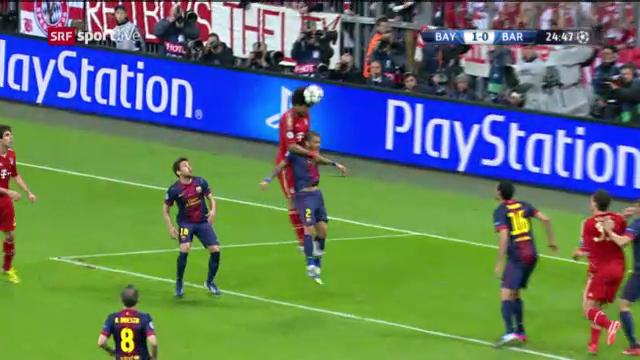 Dantes Assist gegen Barcelona im Hinspiel