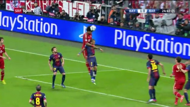 Video «Dantes Assist gegen Barcelona im Hinspiel» abspielen