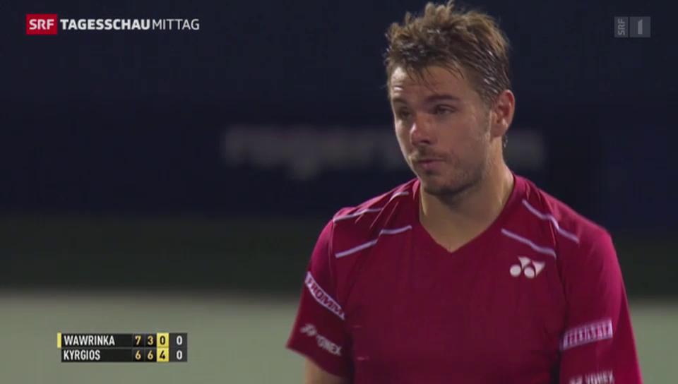 Tennis: Kyrgios beledigt Wawrinka