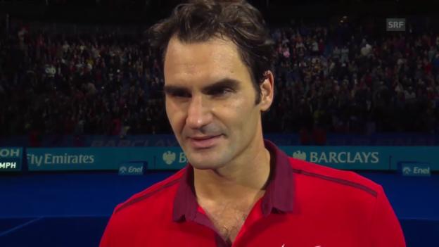 Video «Tennis: Platzinterview mit Federer (englisch)» abspielen
