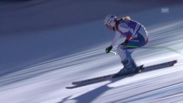 Video «Ski Alpin: Abfahrt Frauen Val d'Isère, Fahrt von Jnglin-Kamer in Val d'Isère («sportlive», 21.12.2013)» abspielen