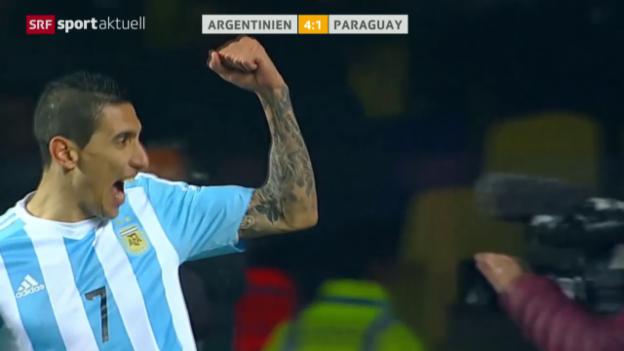 Video «Fussball: Copa America, Halbfinal Argentinien - Paraguay» abspielen