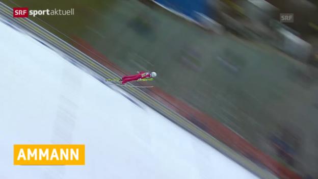 Video «Skispringen: Vierschanzentournee, Simon Ammann in der Qualifikation von Innsbruck» abspielen