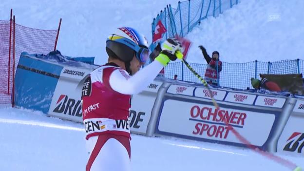 Video «Ski Alpin: Abfahrt Wengen, Fahrt Mauro Caviezel» abspielen