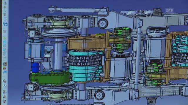 Das Drehgestell der Mega-Lok