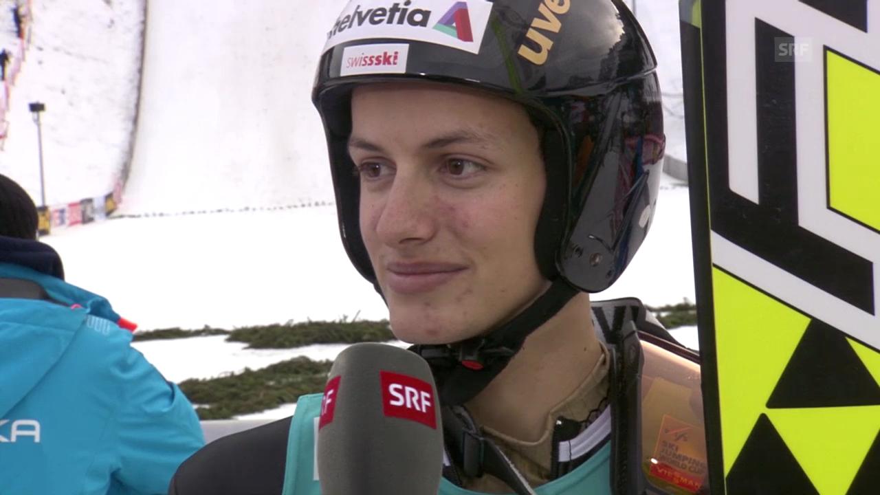 Skispringen: Weltcup in Engelberg, Interview mit Deschwanden («sportlive», 22.12.2013)