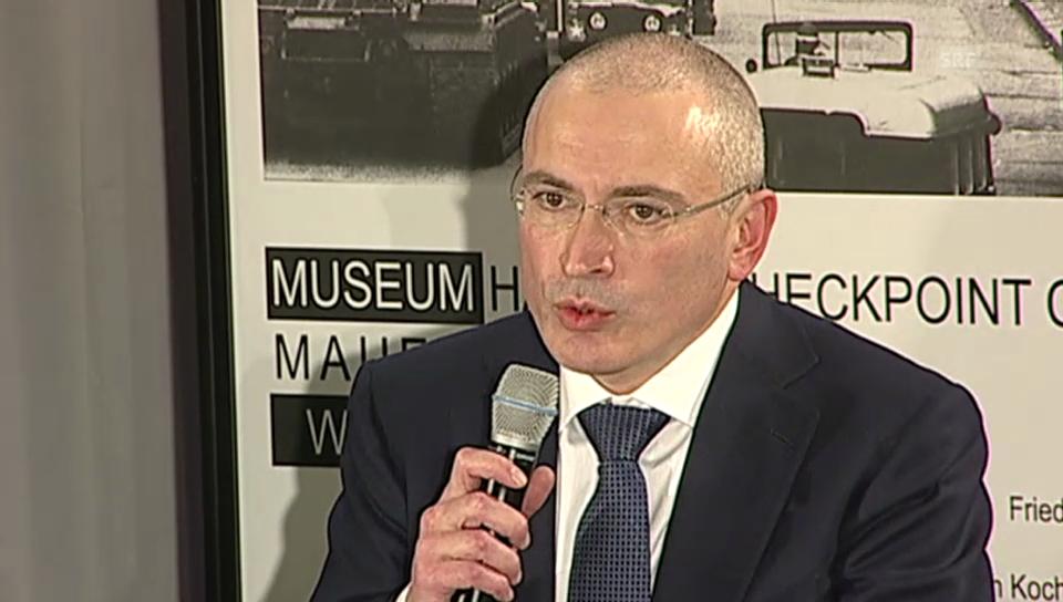Chodorkowski zu einer Rückkehr nach Russland (englisch)
