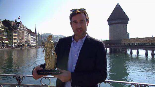 Video ««Glanz & Gloria» mit der Polit-Stafette «Die goldene Helvetia»» abspielen