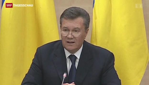 Video «Janukowitsch wirft dem Westen Wortbruch vor» abspielen
