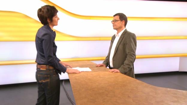 Video «Studiogespräch mit Stefan Stolle, Leiter Kommunikation und Marketing Helvetas» abspielen