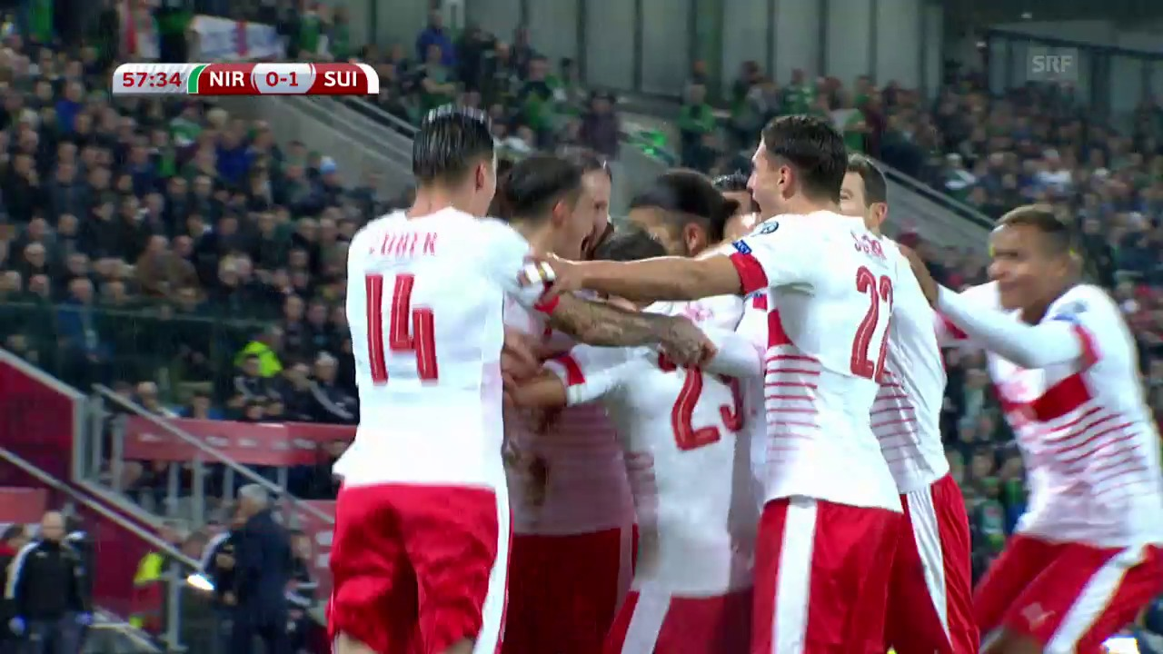 Schweiz siegt in Belfast dank Rodriguez-Tor