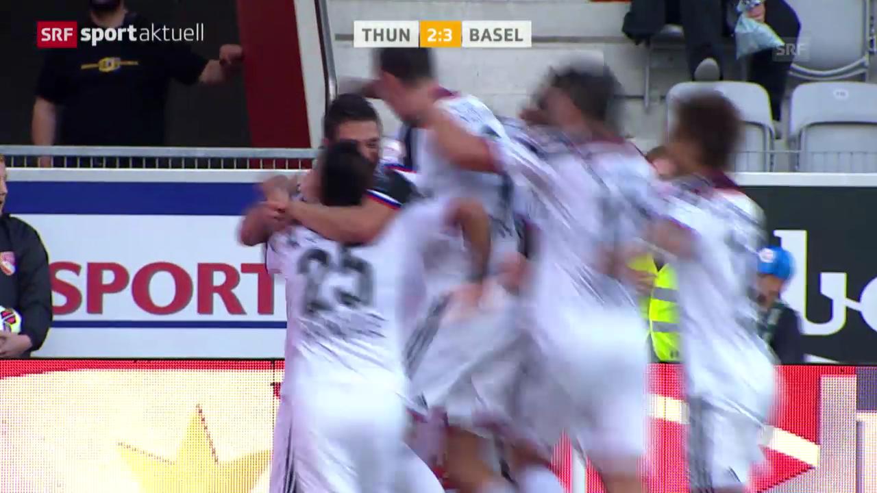 Fussball: Super League, Thun-Basel