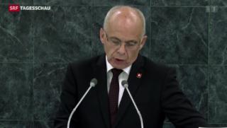 Video «Maurers Rede vor der UNO-Vollversammlung» abspielen